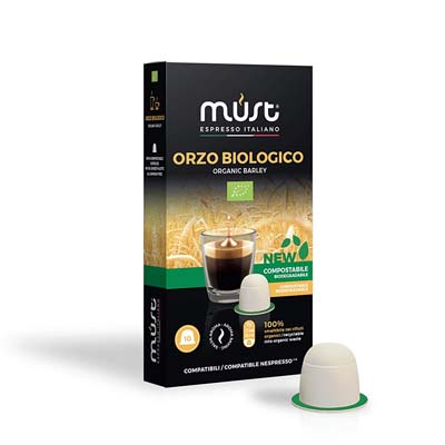 Must Espresso Italiano 100 Capsule Compatibili Nespresso Orzo Bio -