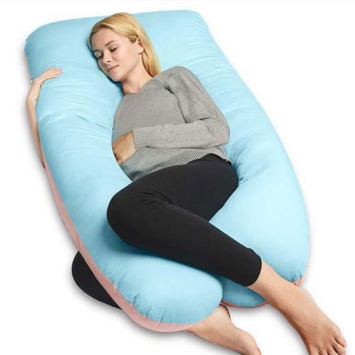 con Custodia Rimovibile e Lavabile Blue SnuggleUpTM Cuscino per Gravidanza con Supporto per Il Corpo a Forma di L
